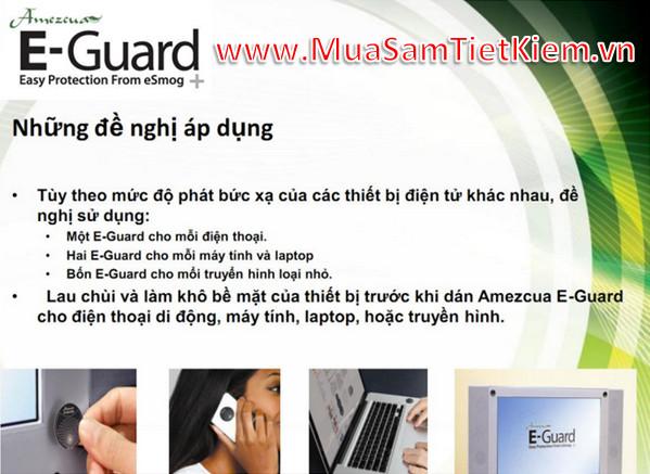 Cách sử dụng miếng dán E-Guard